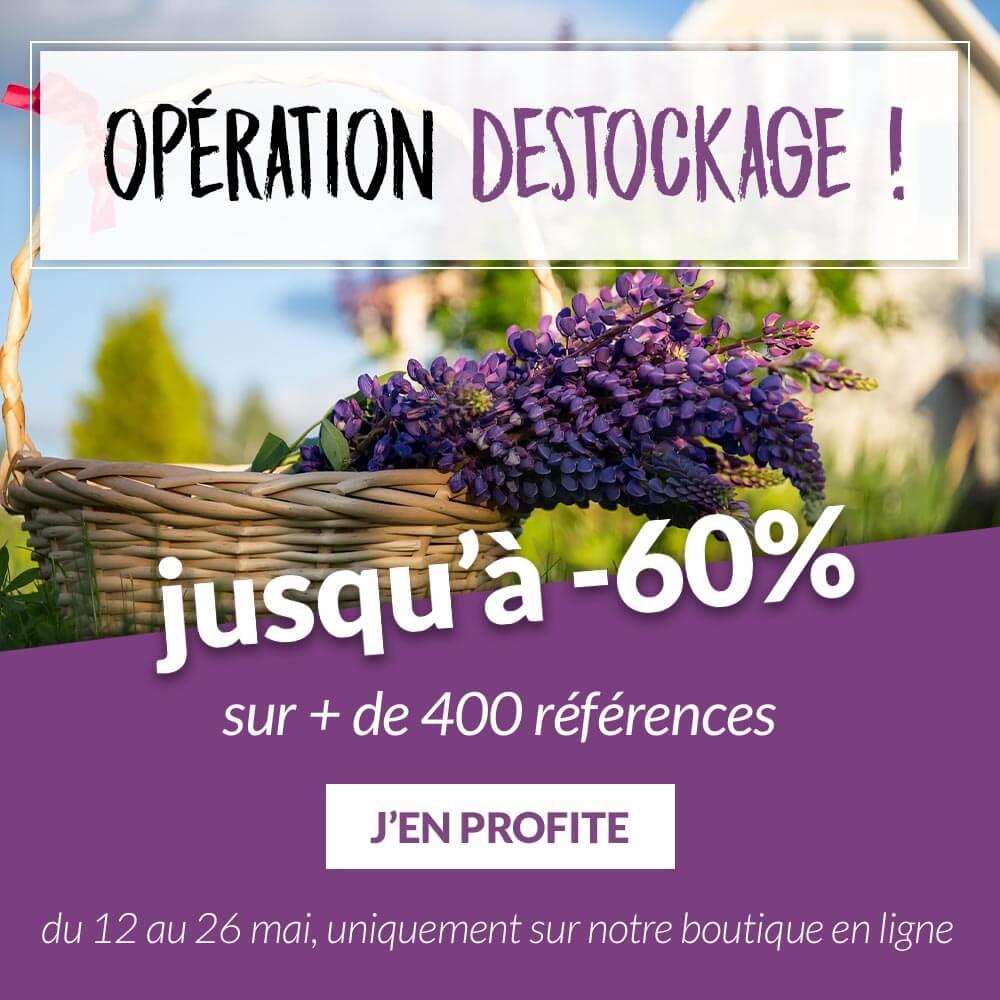 Opération destockage jusqu'à -60% - Pépinières Naudet